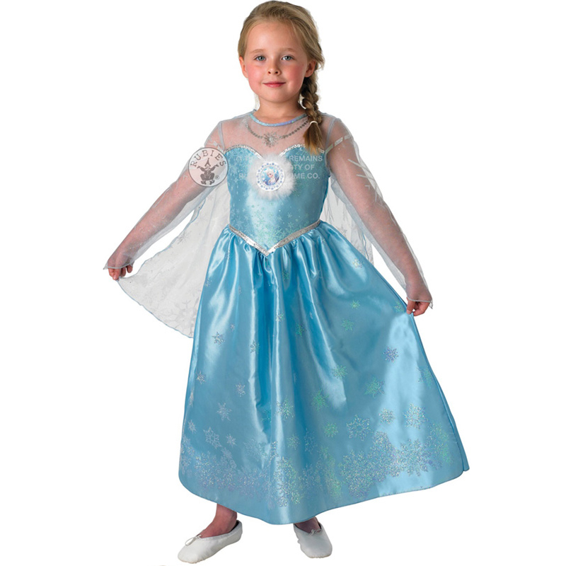 new frozen anna elsa costume wig girls disney princess kids fancy dress outfit ebay. Black Bedroom Furniture Sets. Home Design Ideas