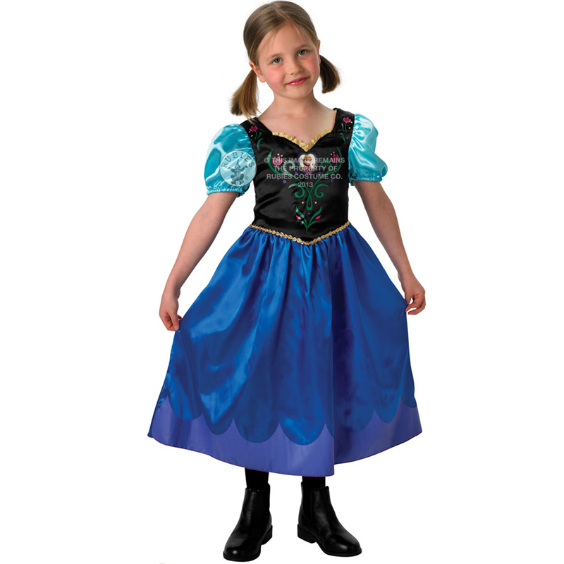 GENUINE-LICENSED-DISNEY-Frozen-Anna-Elsa-Classic-Princess-Fancy-Dress-Costume