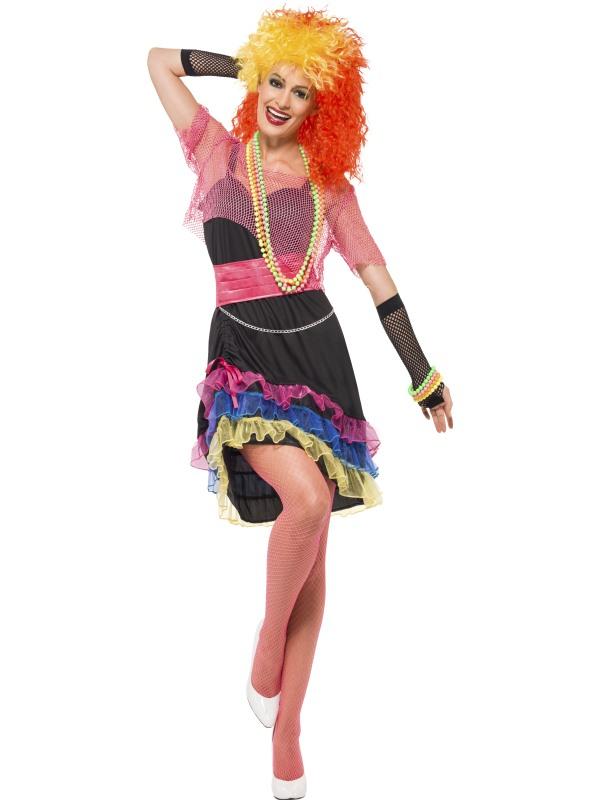 adult 80 u0026 39 s fun girl fancy dress costume cyndi lauper ladies womens female