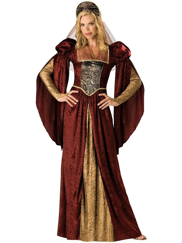 Ladies-Renaissance-Maiden-Medieval-Juliet-Tudor-Queen-Fancy-Dress-Costume-New