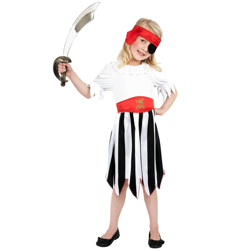 Child-Kids-Buccaneer-Caribbean-Gothic-Pirate-Book-Boys-Girls-Fancy-Dress-Costume