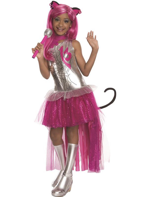 Child Monster High Catty Noir Fancy Dress Costume Halloween Book Kids Girls