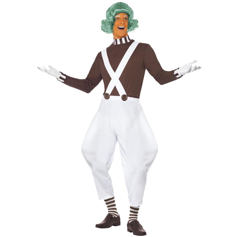 Adult-Umpa-Lumpa-Factory-Worker-Oompa-Loompa-Fancy-Dress-New-Costume-Wig-Mens