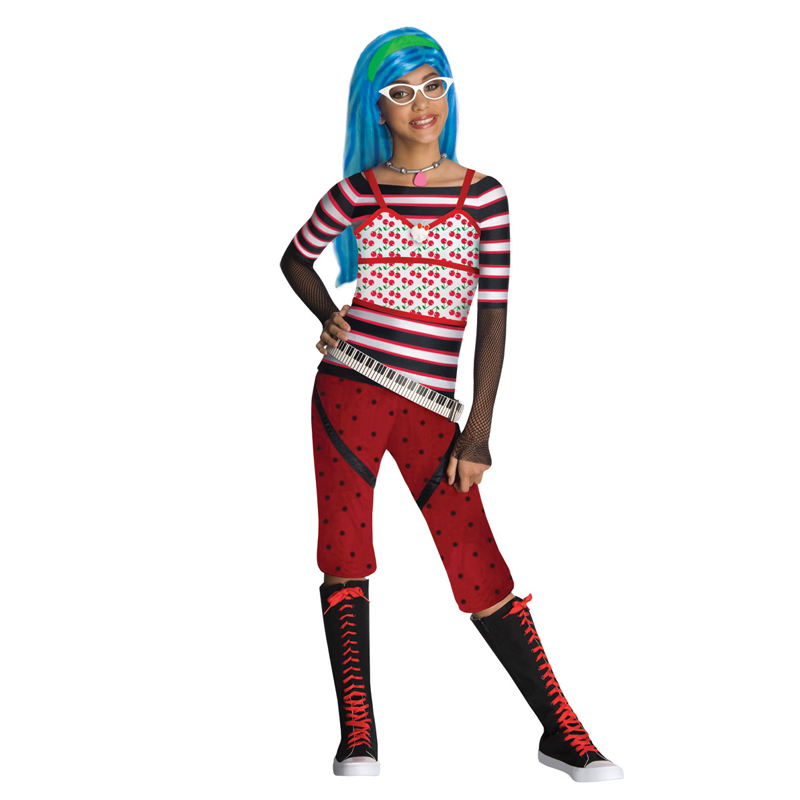 Licensed-Child-Girls-Monster-High-Kids-New-Fancy-Dress-Halloween-Costume-amp-Wig