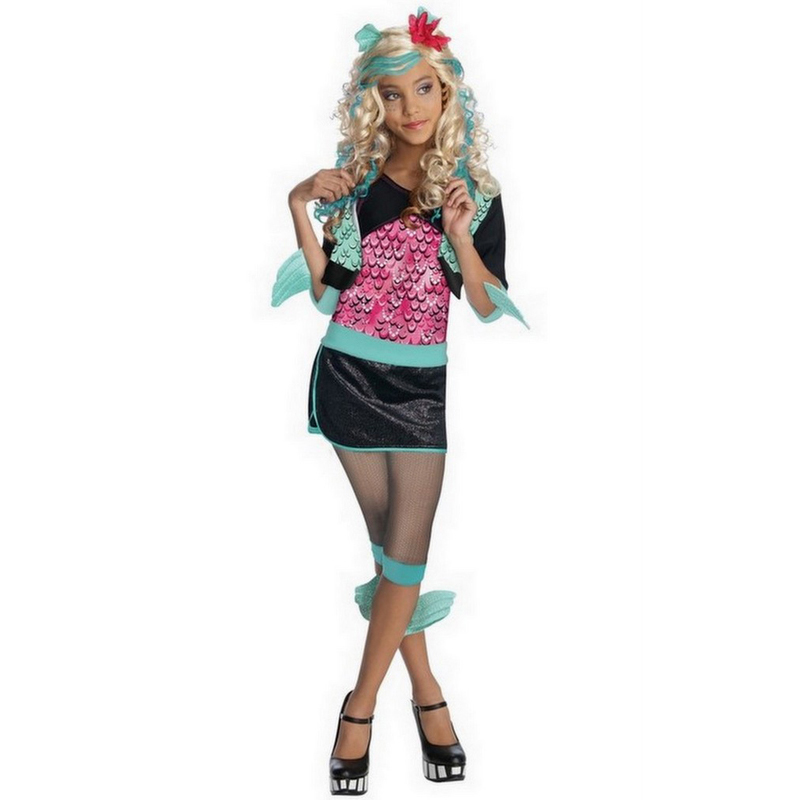 Licensed-Child-Girls-Monster-High-Kids-New-Fancy-Dress-Halloween-Costume-Wig