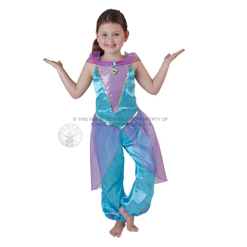 Childs Disney Princess Jasmine Aladdin Kids Fancy Dress Book Week New Costume