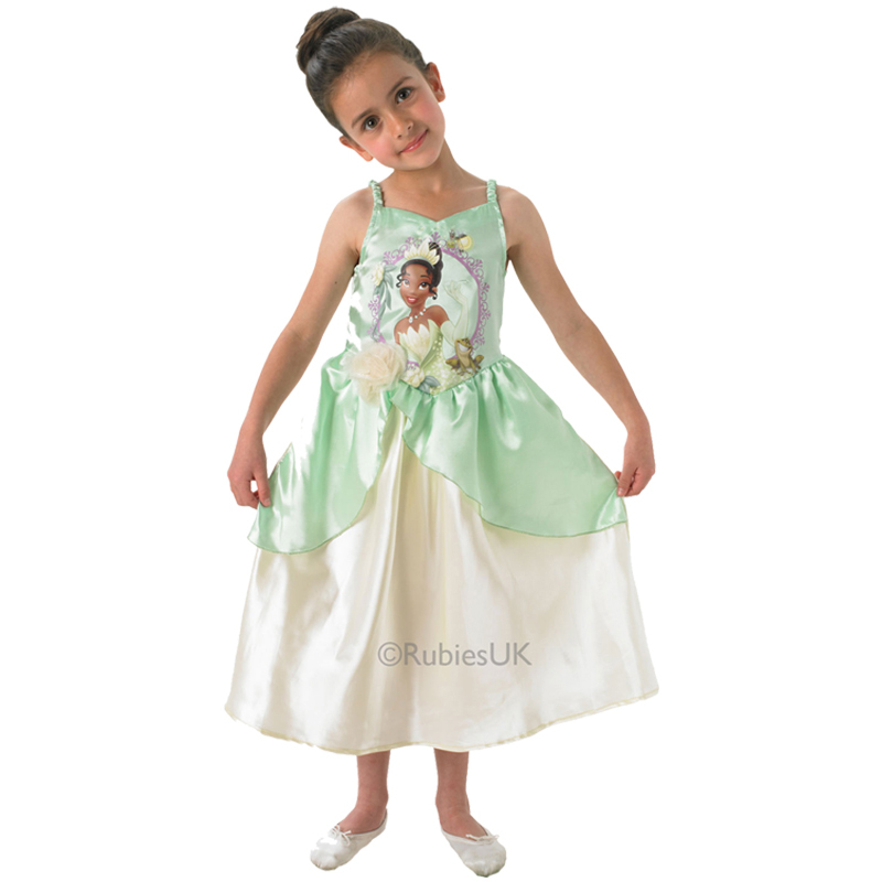 Princess Tiana Dress: Childs Disney Classic Princess & The Frog Tiana Kids Fancy