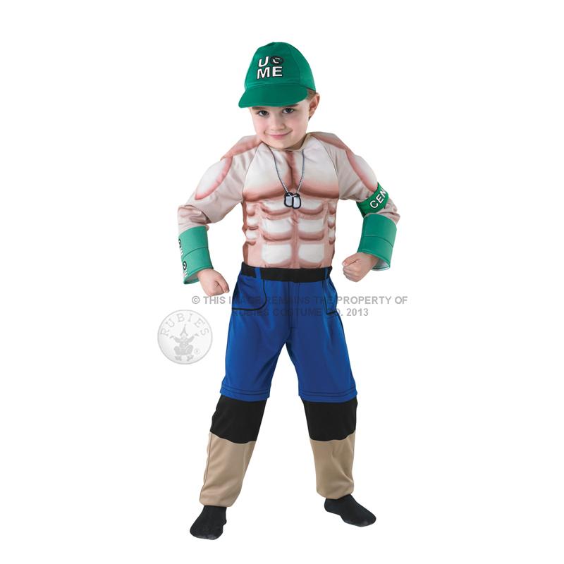 Childs WWE Muscle Chest Deluxe Wrestling Fancy Dress New Kids ...
