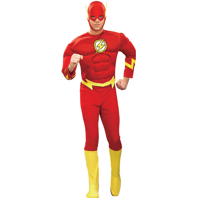 Adult-Mens-Muscle-Chest-Padded-Superhero-Fancy-Dress-New-Costume-Movie-Outfit