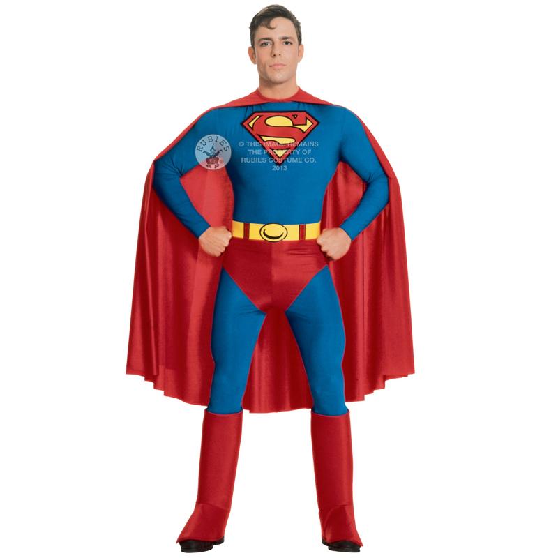 Mens-Classic-Adult-Superhero-Fancy-Dress-Costume-New-Comic-Book-Week-Outfit
