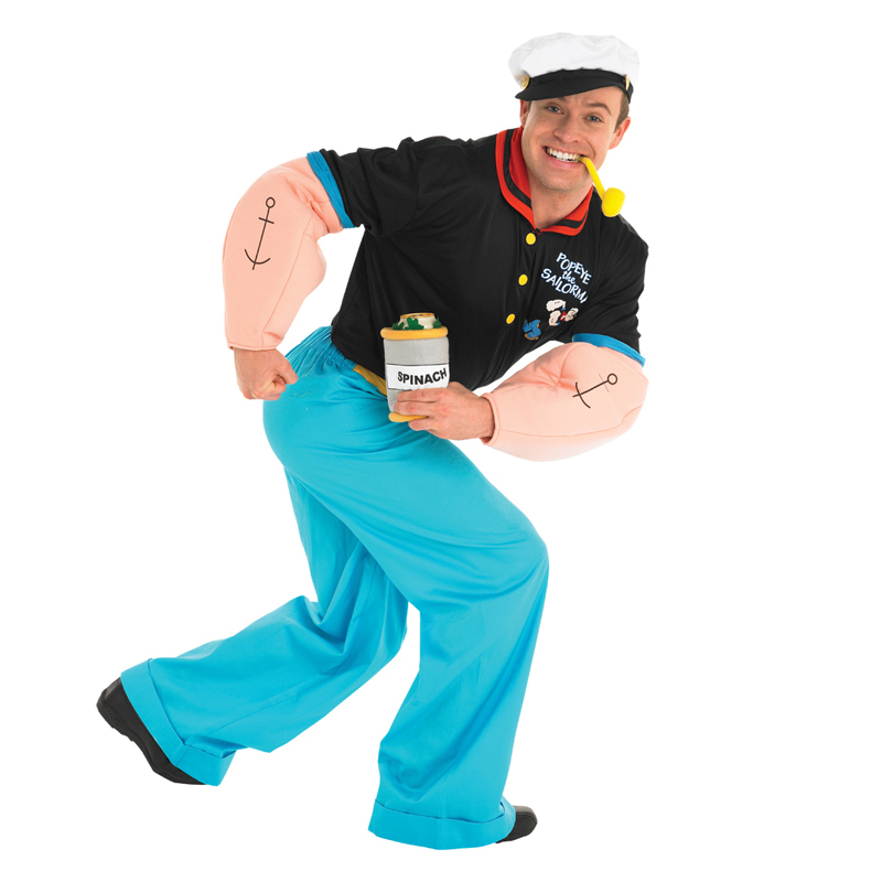 Cartoon Characters 80s Fancy Dress : Adult licensed mens popeye sailor s cartoon fancy dress