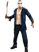 View Item Adult Friday the 13th Deluxe Jason Voorhees Fancy Dress Costume Halloween Mens