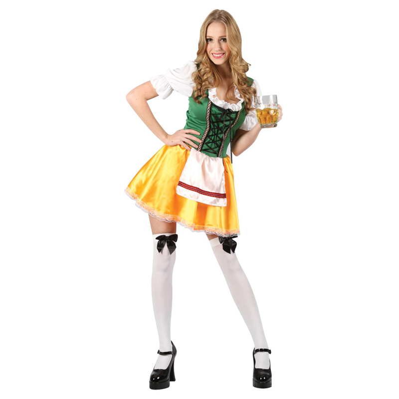 Mens-German-Bavarian-Oktoberfest-Ladies-Beer-Maid-Fancy-Dress-Costume-Lederhosen