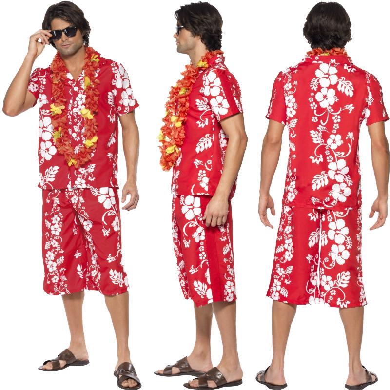 Señoras hawaiano disfraz para hombre Verano Playa Fiesta Disfraz ...