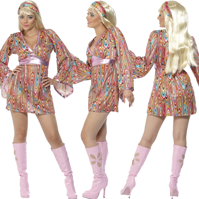 Adults-Ladies-Mens-Groovy-Baby-1960s-70s-Hippie-  sc 1 st  eBay & Adults Ladies Mens Groovy Baby 1960s 70s Hippie Fancy Dress New ...