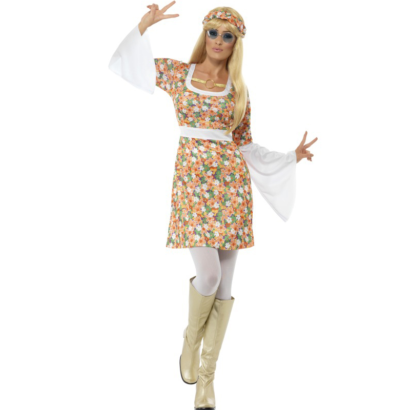 Adults-Ladies-Mens-Groovy-Baby-1960s-70s-Hippie-Fancy-Dress-New-Hippy-Outfit