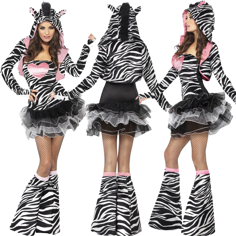 ladies animal tutu fancy dress costume zoo fever sexy. Black Bedroom Furniture Sets. Home Design Ideas