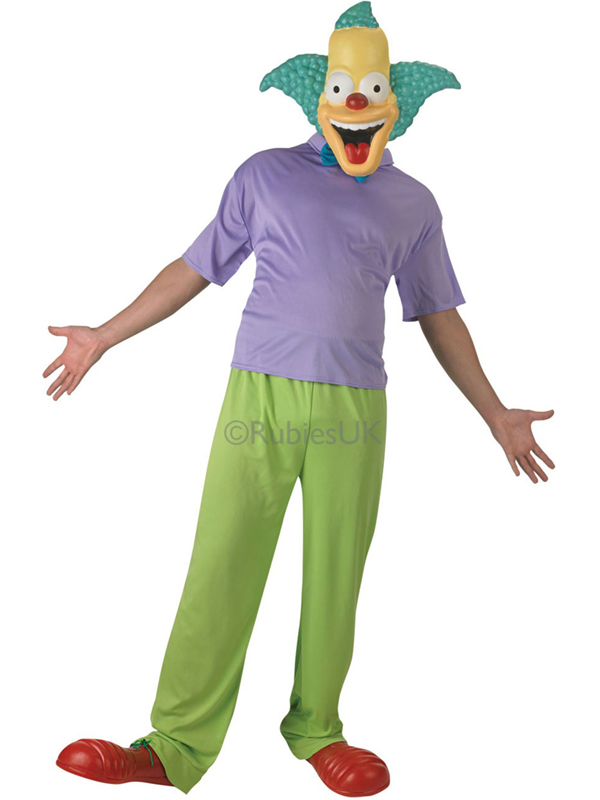 erwachsene die simpsons krusty der clown fancy dress kost m maske herren ebay. Black Bedroom Furniture Sets. Home Design Ideas