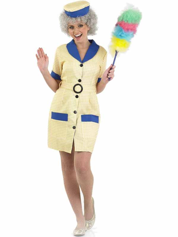 Adult-Cleaner-Outfit-Fancy-Dress-Costume-1980s-Hi-de-Hi-Peggy-Ladies-Womens