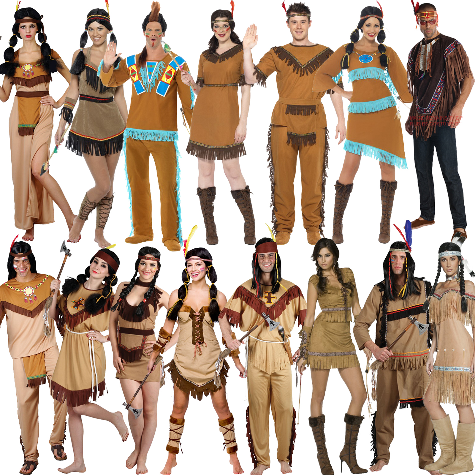 Childrens Indian Fancy Dress Costumes New Red Indian Fancy Dress