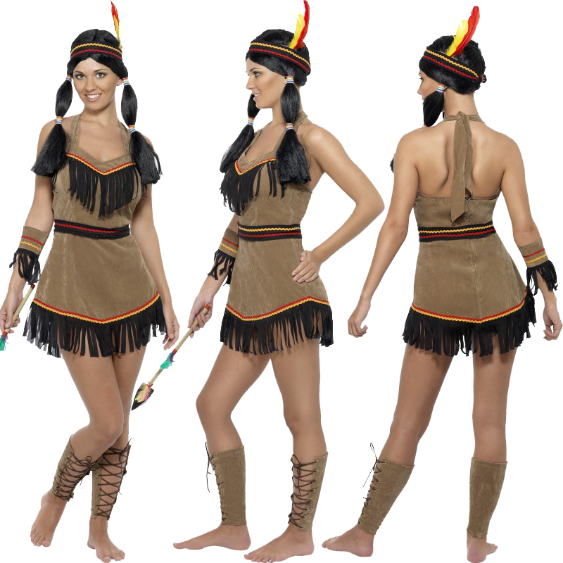 New red indian fancy dress costume squaw sexy native womens mens new red indian fancy dress costume squaw sexy solutioingenieria Gallery