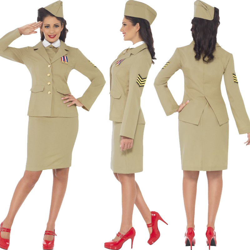 Adult-Ladies-Mens-World-War-2-Fancy-Dress-Costume-New-1940s-WW2-Armed-Forces