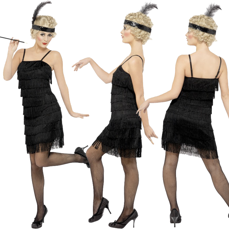 New-Ladies-Adult-Fringe-Flapper-Jazz-20s-30s-Fancy-Dress-Costume-Chicago-Moll