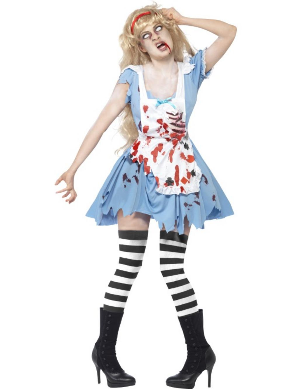 Adult zombie malice fancy dress costume halloween alice in - Halloween adulte ...