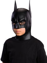 View Item Child Batman Latex Mask Fancy Dress Superhero The Dark Knight Rises Kids Boys