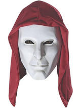 View Item Deluxe Latex Anarky Mask & Hood Adult Mens Batman Arkham Origins Halloween