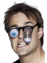 View Item Adult Droopy Eye Glasses Fancy Dress Clown Accessories