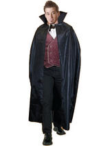 "View Item Adult Black 56"" Cape Fancy Dress Costume Halloween Horror Vampire Vampiress"