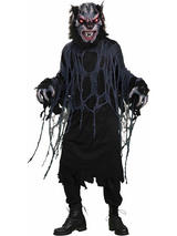View Item Adult Bat Wolf Fancy Dress Costume & Mask Halloween Horror Vampire Gothic Mens