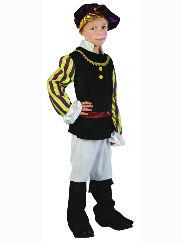 Child Tudor Boy Fancy Dress Party Costume Medieval Shakespeare Romeo Juliet BN