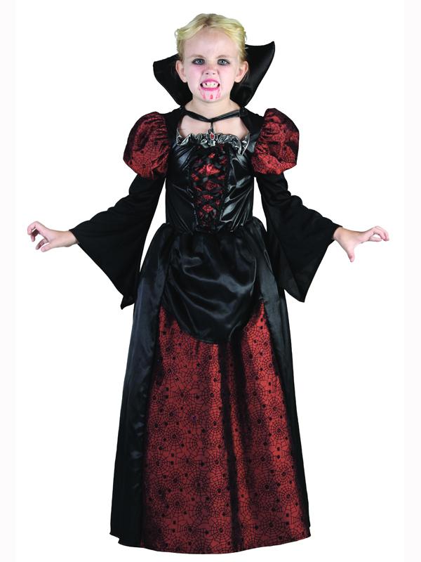 luxus vampirin madchen halloween kostum vampir kinder kostum kinder