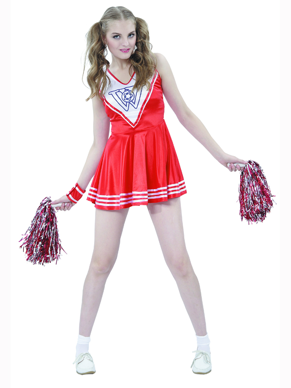 high school musical rot cheerleader outfit kost m junggesellinnenabschied ebay. Black Bedroom Furniture Sets. Home Design Ideas