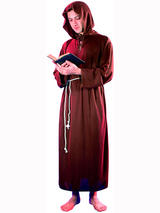 View Item Adult Hooded Robe Cloak Friar Tuck Medieval Monk Costume Renaissance Priest Mens
