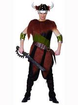 View Item Adult Viking Man Fancy Dress Costume Medieval Saxon Warrior Barbarian Mens