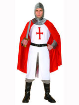 View Item Adult Knight St George England Crusader Medieval Lionheart Fancy Dress Costume