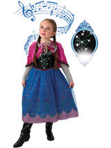 Frozen Disney Musical Light Up Princess Girl Queen Anna Costume Fancy Dress