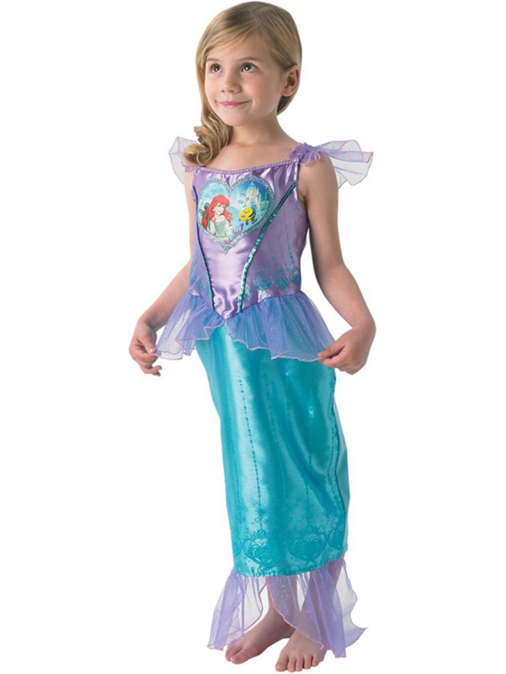 Child Loveheart Ariel Fancy Dress Costume Princess Kids Girls The ...