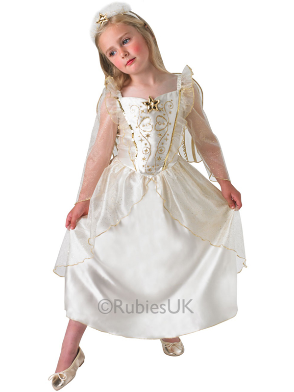 White Angel + Wings + Headpiece Fancy Dress Nativity Christmas Kids Costume | eBay