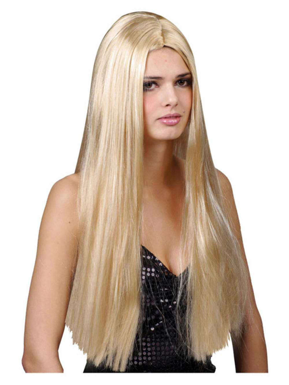 Ladies Long Straight 24 Quot Blonde Wig Fancy Dress Halloween