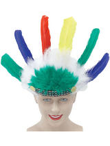 View Item Native Indian Chief Childs Tribal Headdress One Size Kids Fancy Dress Head Dress