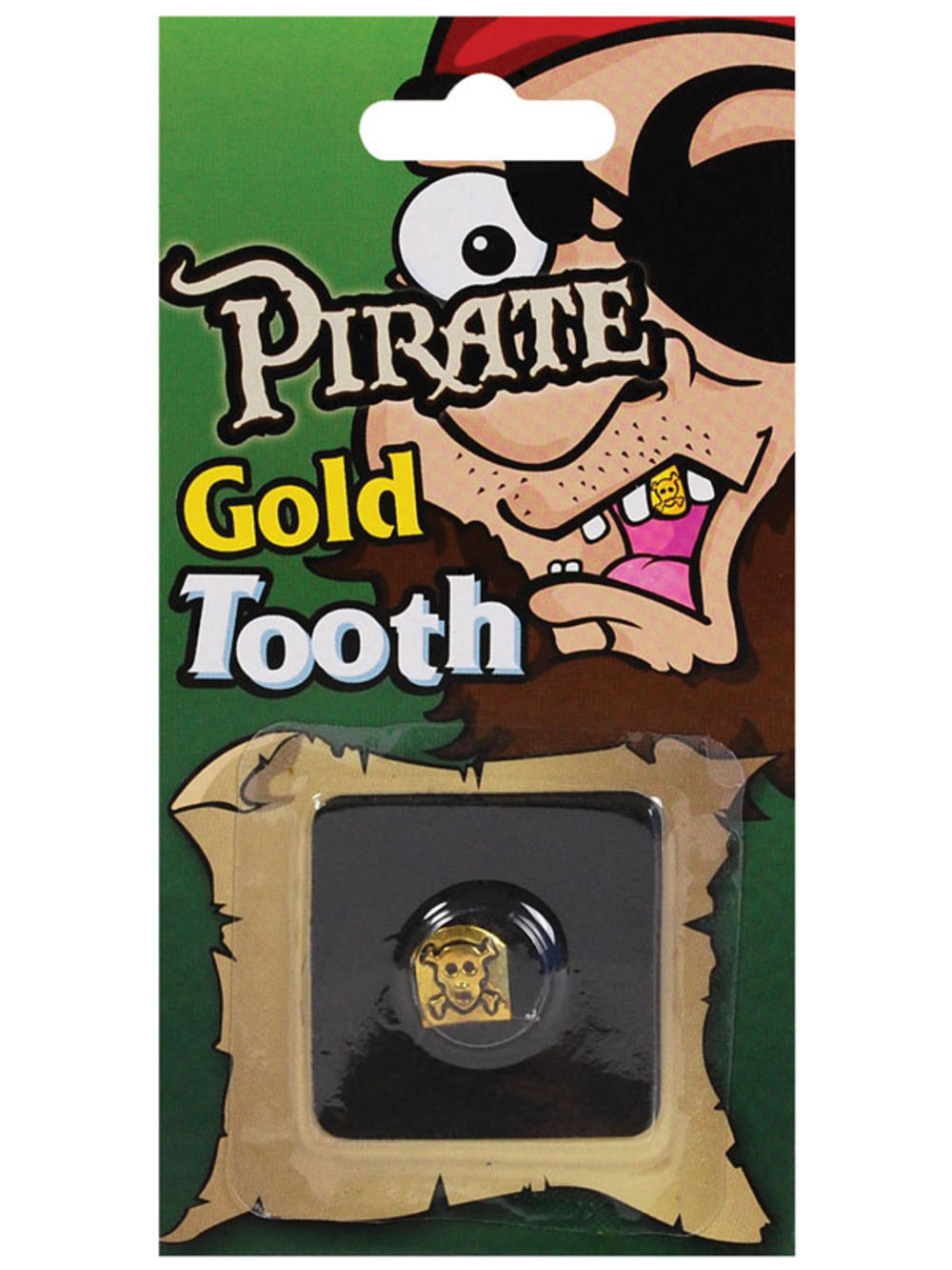 Pirate Skull Tooth Cap Fake Gold Teeth Fancy Dress