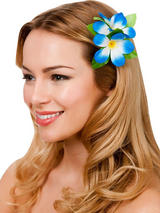 View Item New Royal Blue Hibiscus Flower Hair Clip Fancy Dress Bridal Hawaiian Luau Party