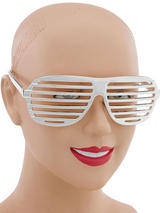 View Item Retro Fun Party Shutter Shades Glasses Novelty Club Aviator Fancy Dress Silver