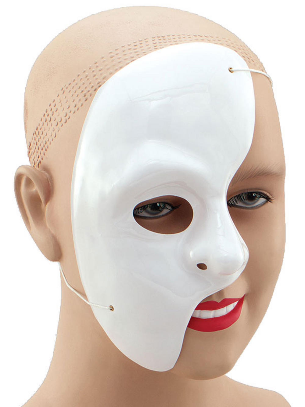 Phantom Of The Opera Fancy Dress White Half Face Mask Theatre ...