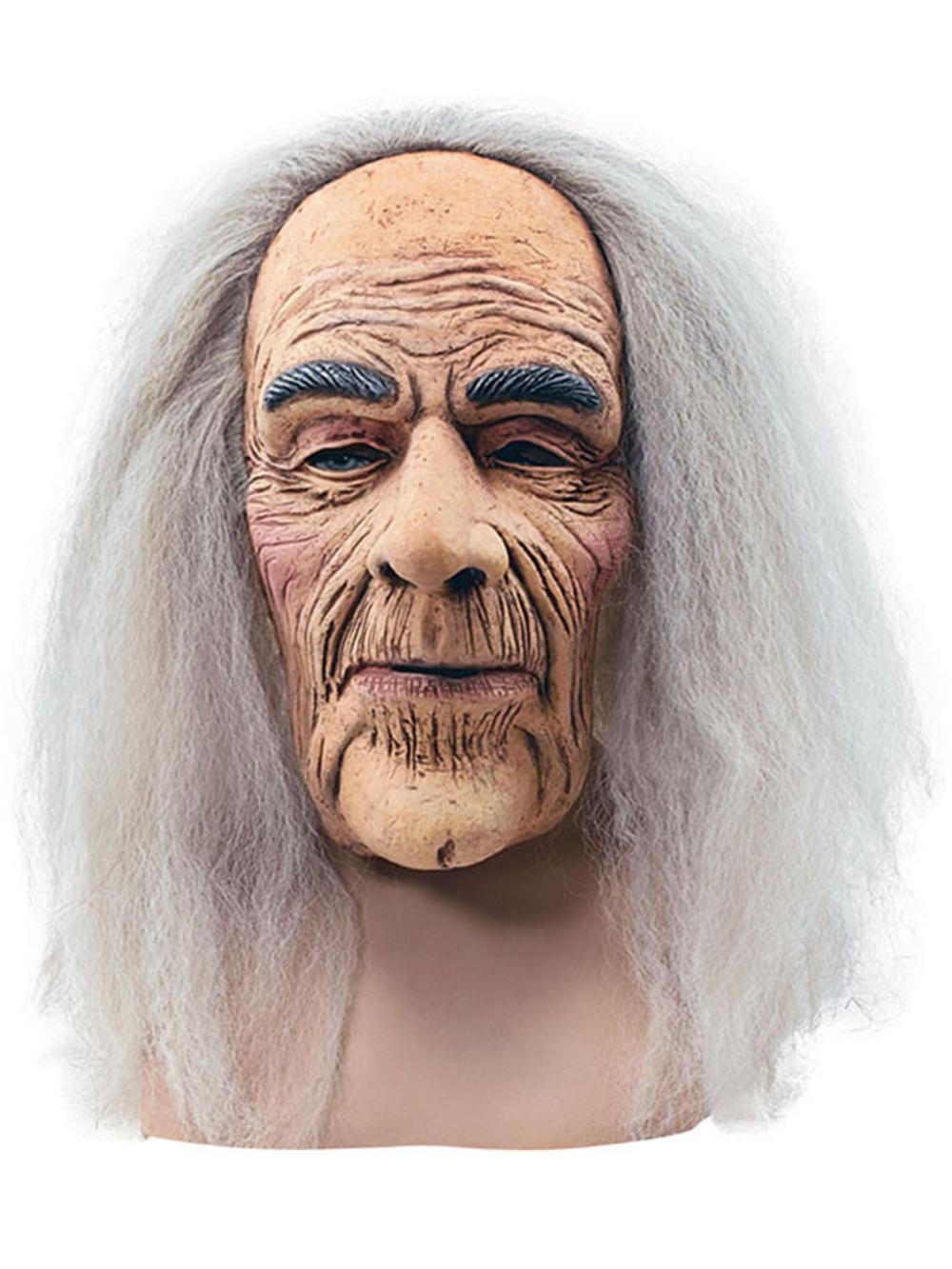 Hairy old wrinkled grandpa