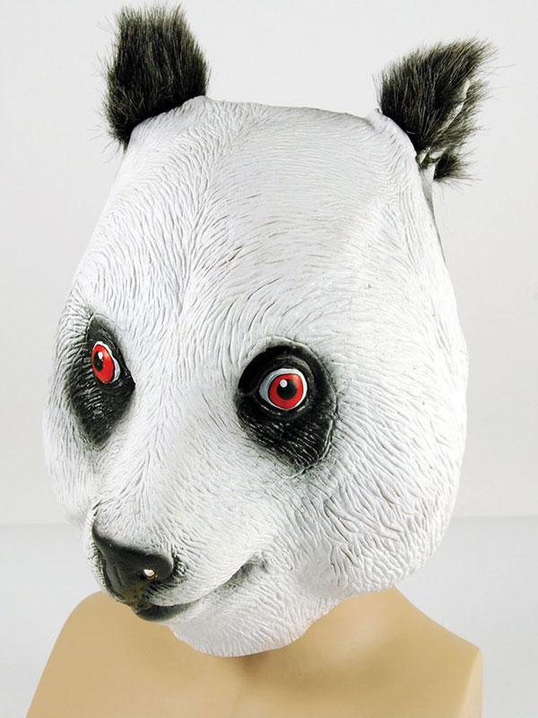 Full Rubber Latex Animal Panda Bear Mask Safari Fancy Dress Halloween Grizzly